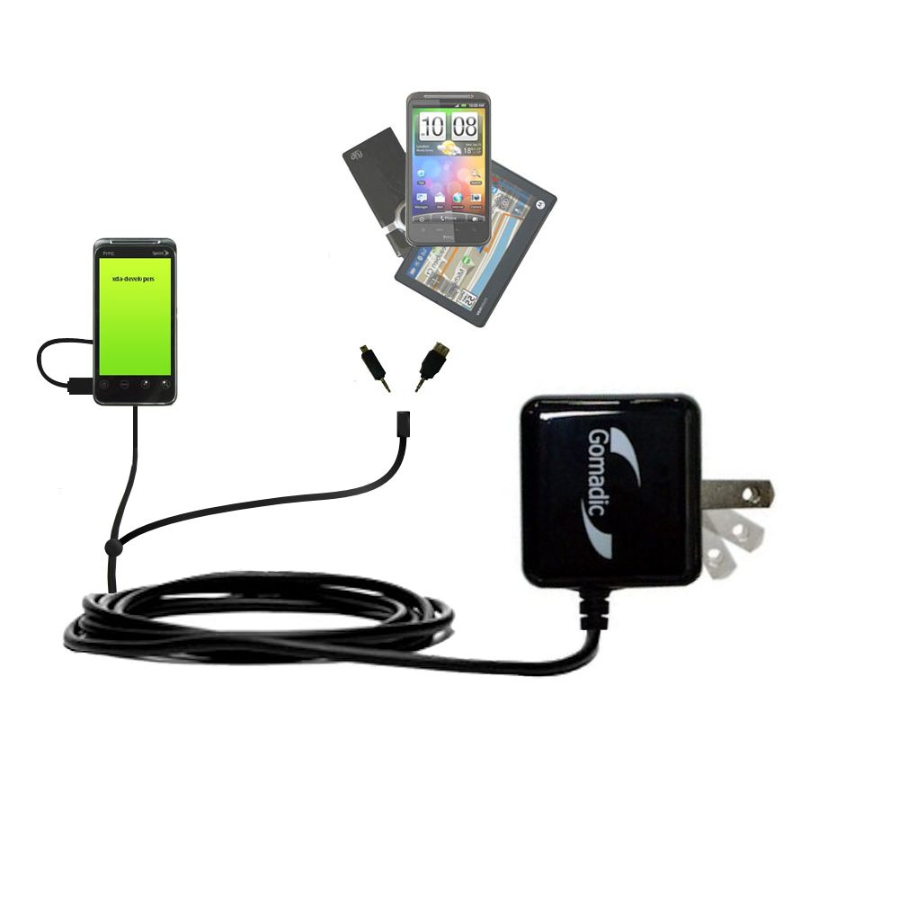 Double Wall Home Charger with tips including compatible with the HTC Knight