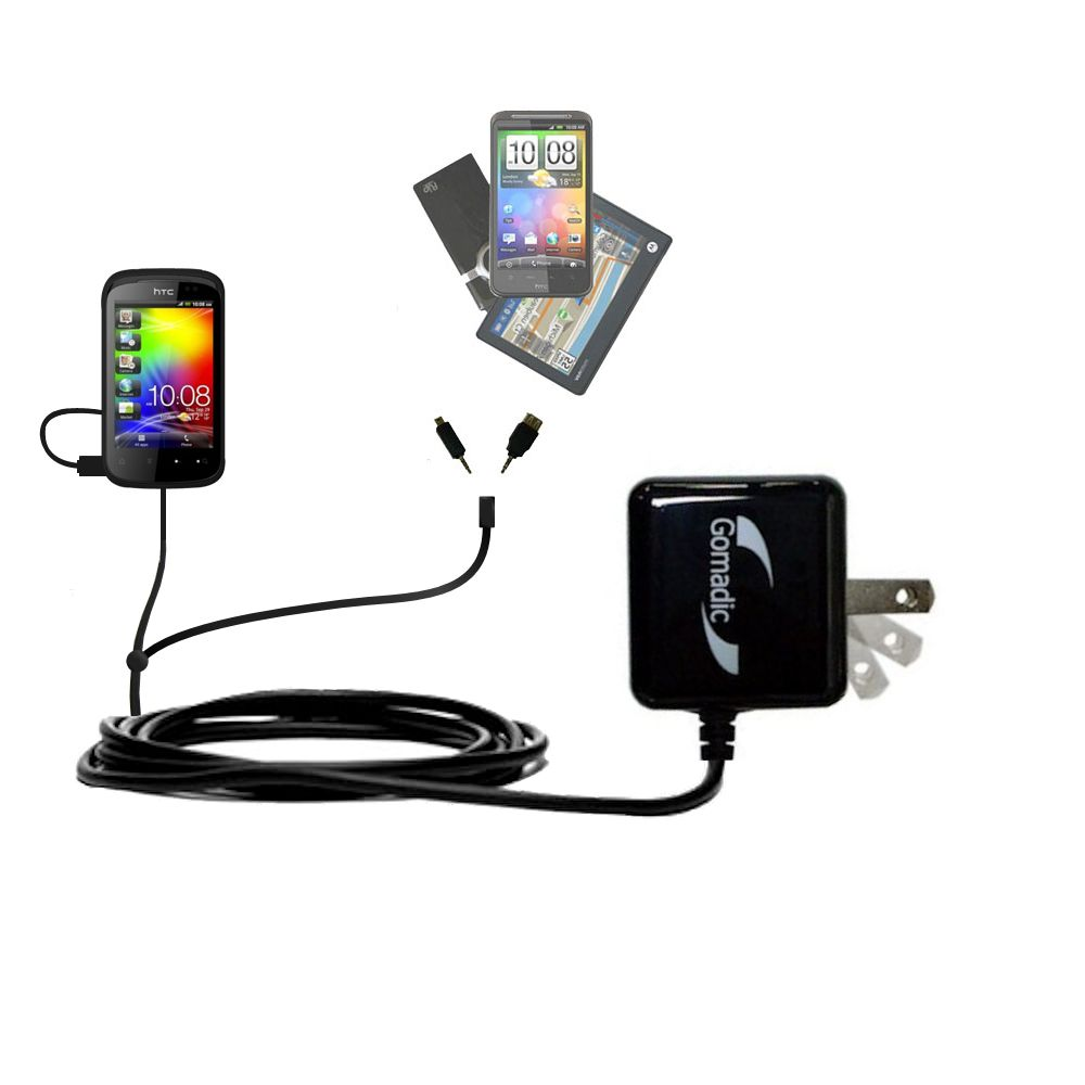 Double Wall Home Charger with tips including compatible with the HTC Pico