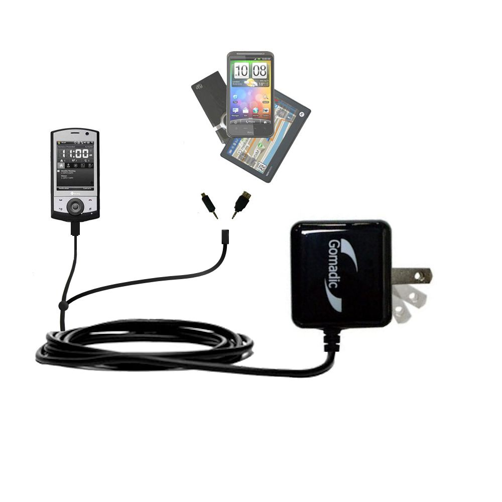 Double Wall Home Charger with tips including compatible with the HTC Polaris