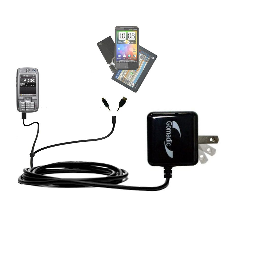 Double Wall Home Charger with tips including compatible with the HTC S730