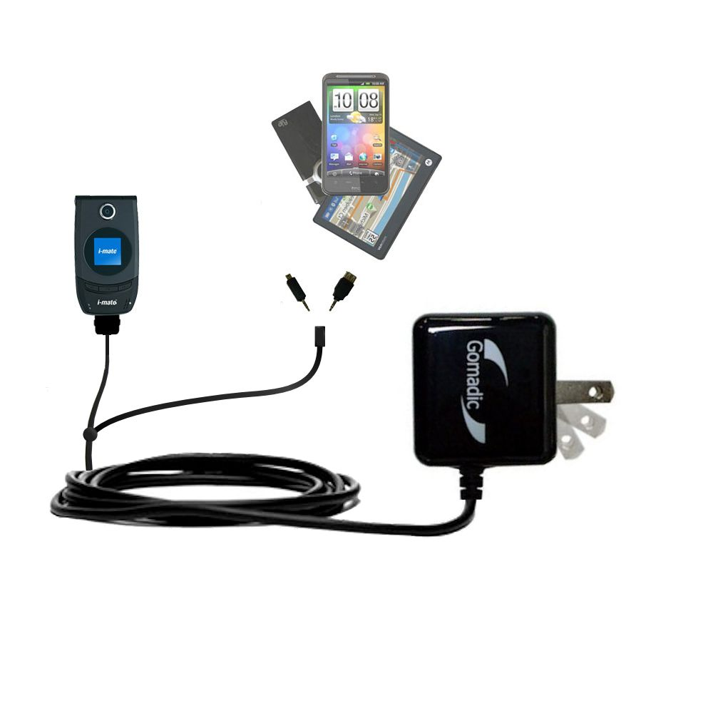 Double Wall Home Charger with tips including compatible with the HTC Smartflip