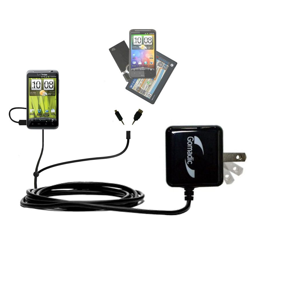 Double Wall Home Charger with tips including compatible with the HTC Thunderbolt