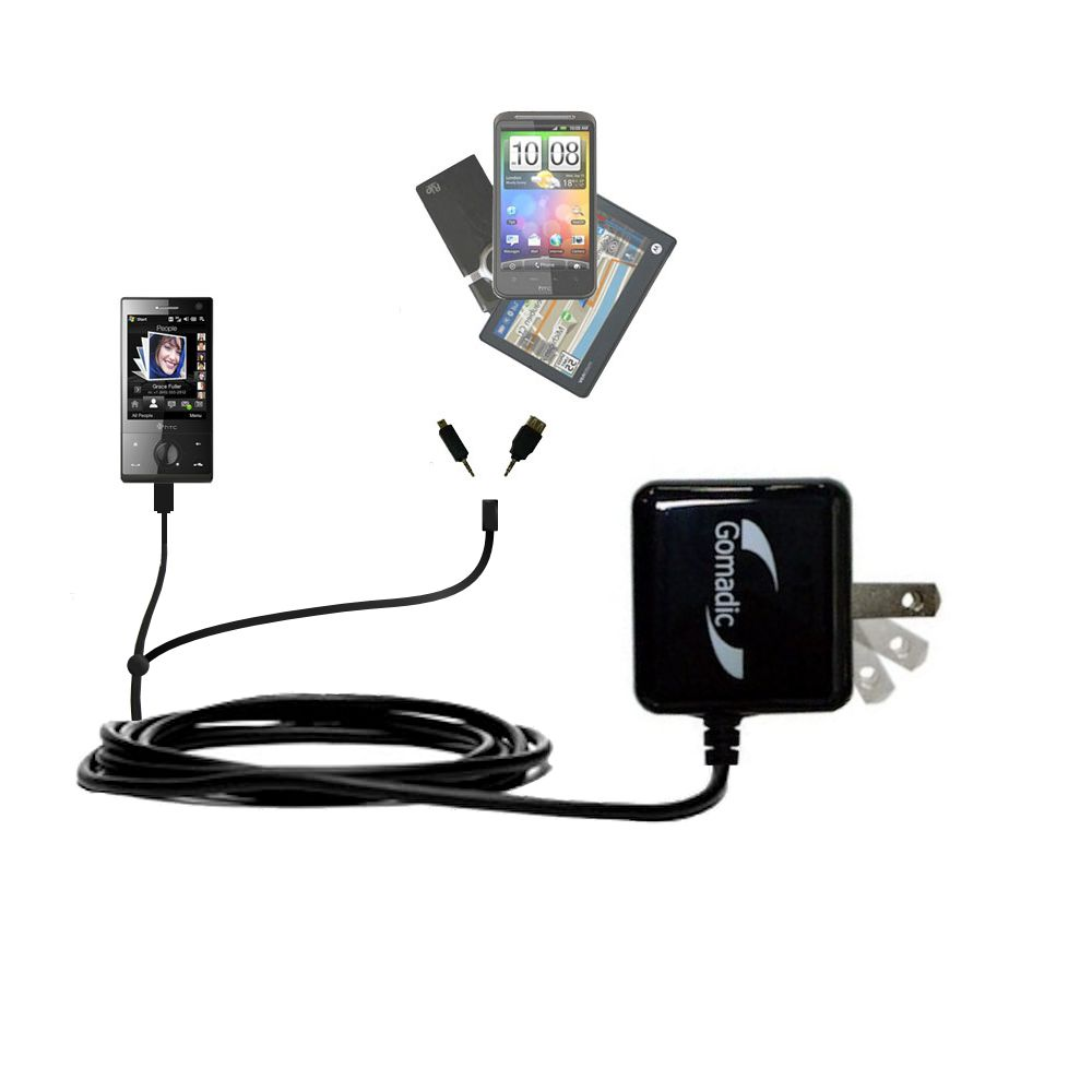 Double Wall Home Charger with tips including compatible with the HTC Touch Diamond