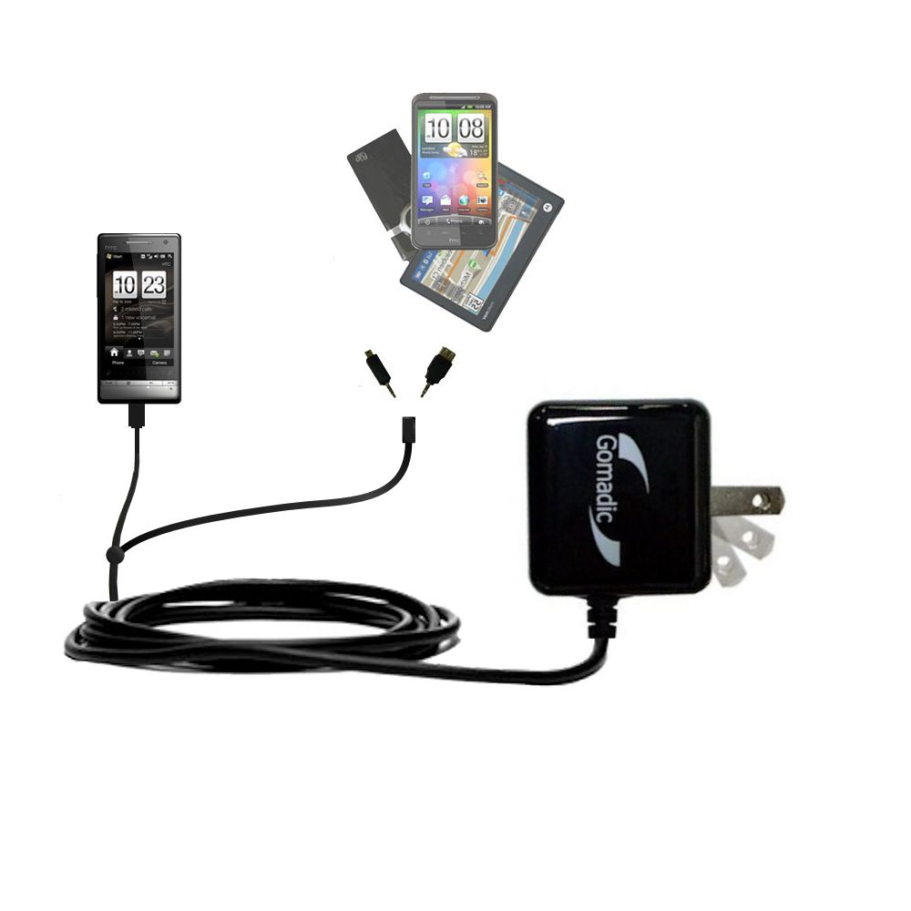 Double Wall Home Charger with tips including compatible with the HTC Touch Diamond2