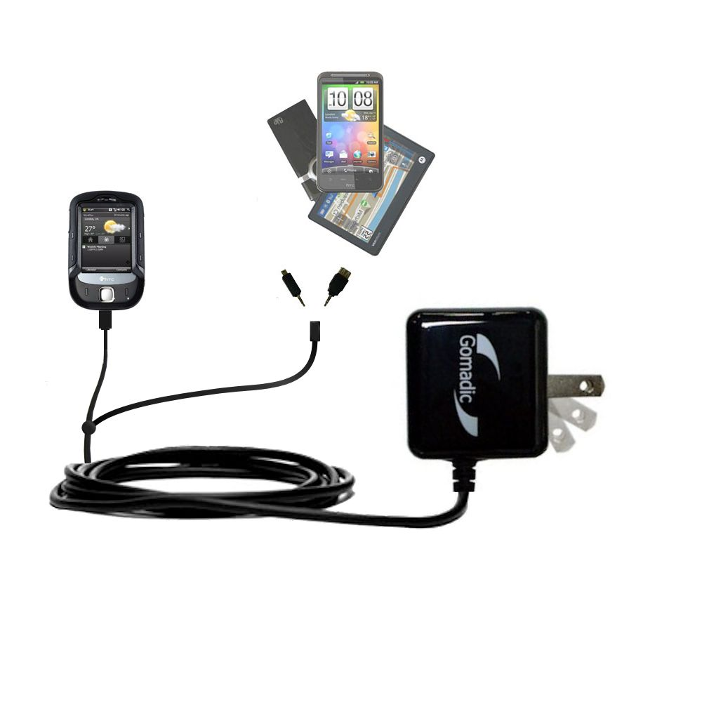 Double Wall Home Charger with tips including compatible with the HTC Touch