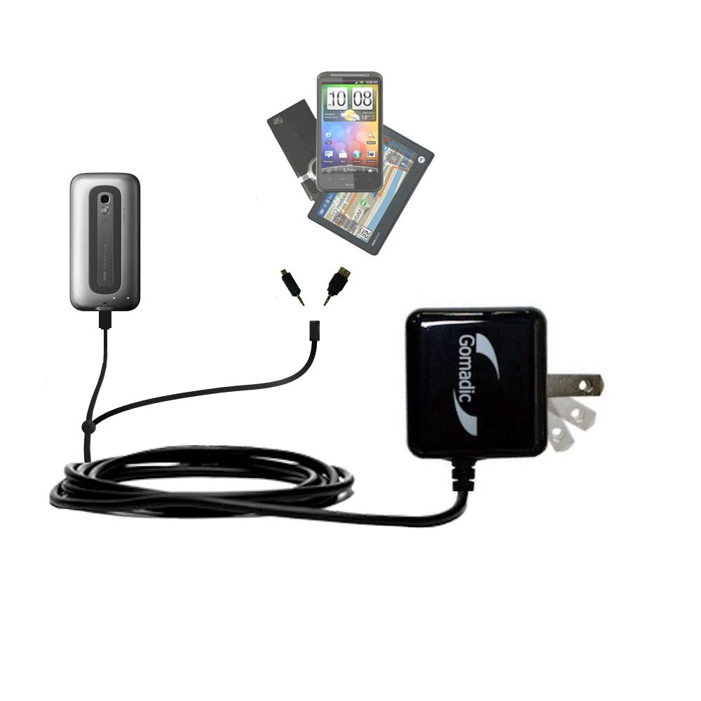 Double Wall Home Charger with tips including compatible with the HTC Touch Pro2