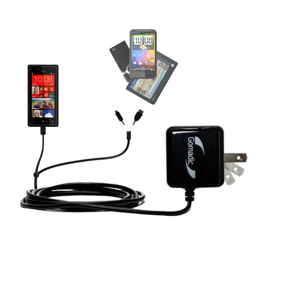 Double Wall Home Charger with tips including compatible with the HTC Windows Phone 8x