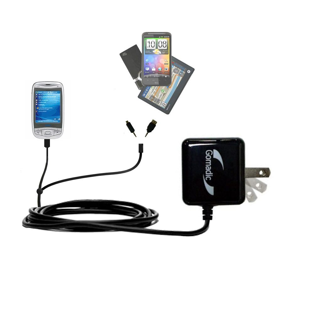 Double Wall Home Charger with tips including compatible with the HTC Wizard