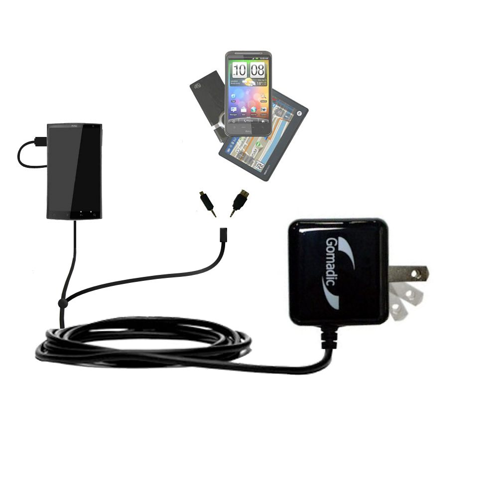 Double Wall Home Charger with tips including compatible with the HTC Zeta