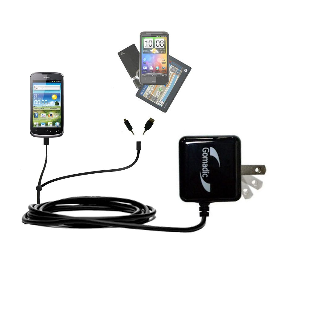 Double Wall Home Charger with tips including compatible with the Huawei U8815