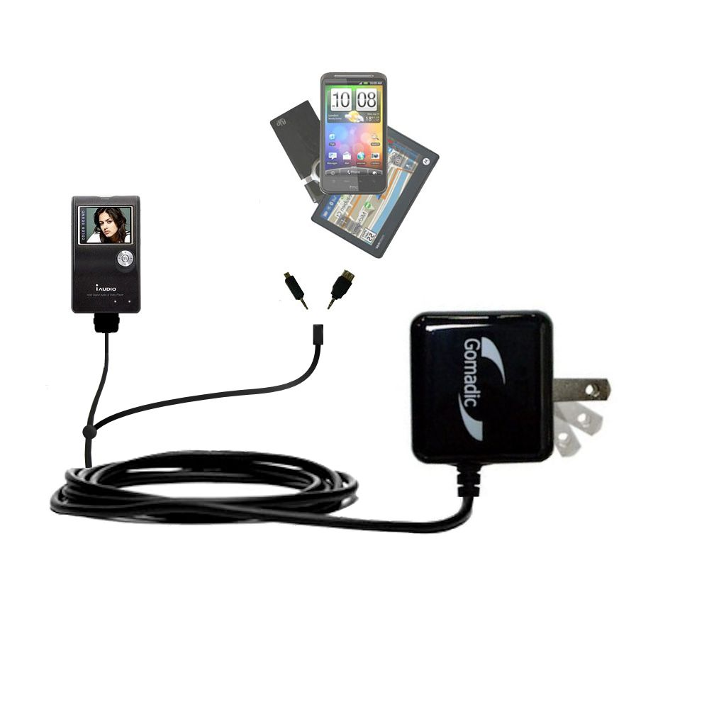 Double Wall Home Charger with tips including compatible with the Cowon iAudio X5
