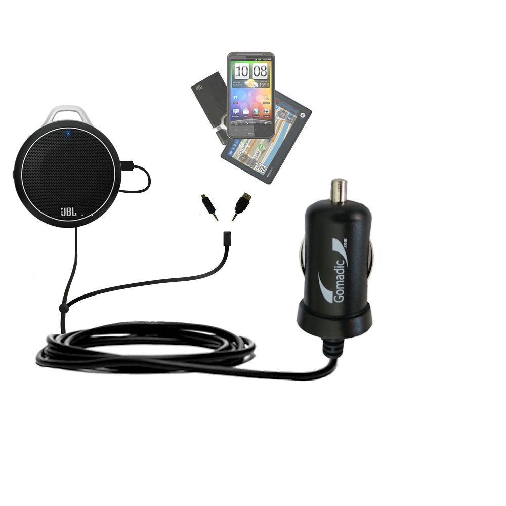 mini Double Car Charger with tips including compatible with the JBL Charge Micro