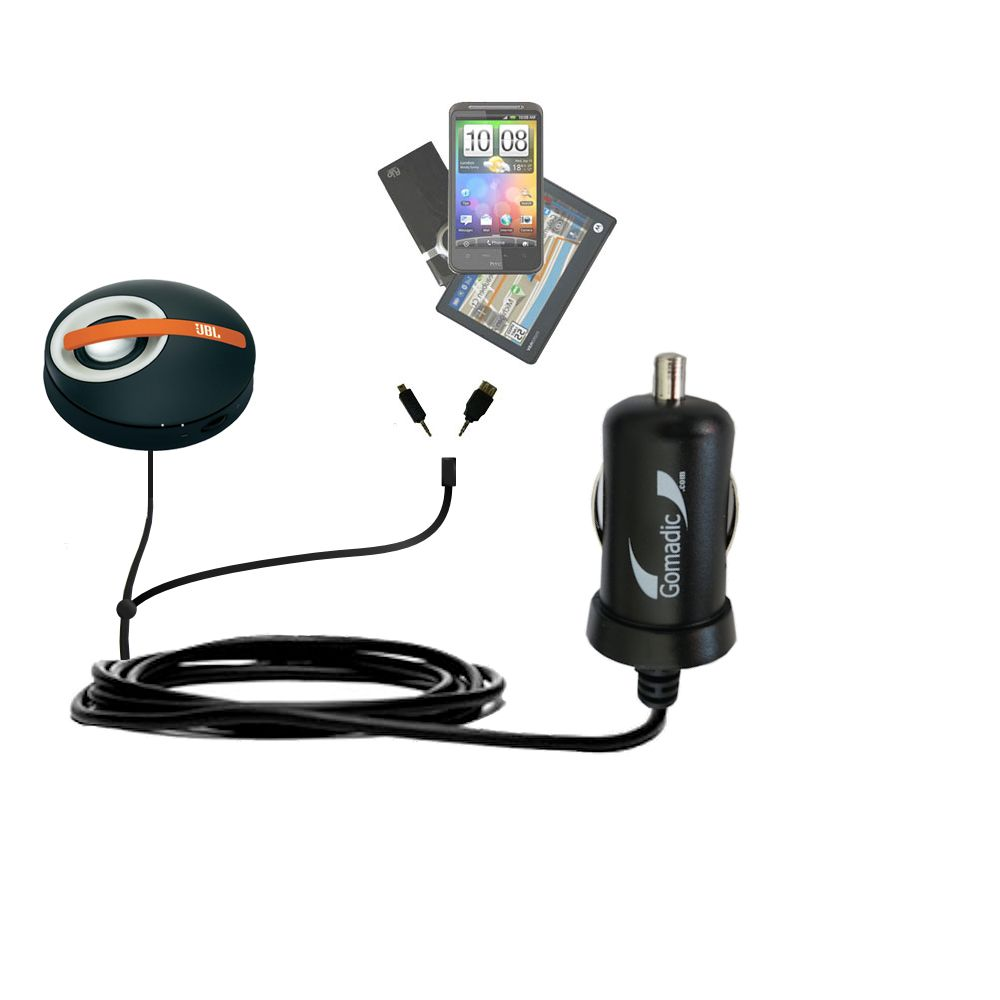 mini Double Car Charger with tips including compatible with the JBL On Tour Micro