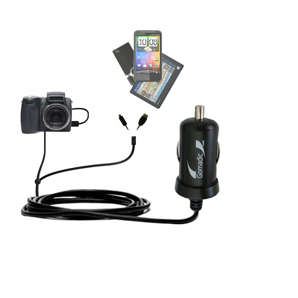 mini Double Car Charger with tips including compatible with the Kodak DX6490