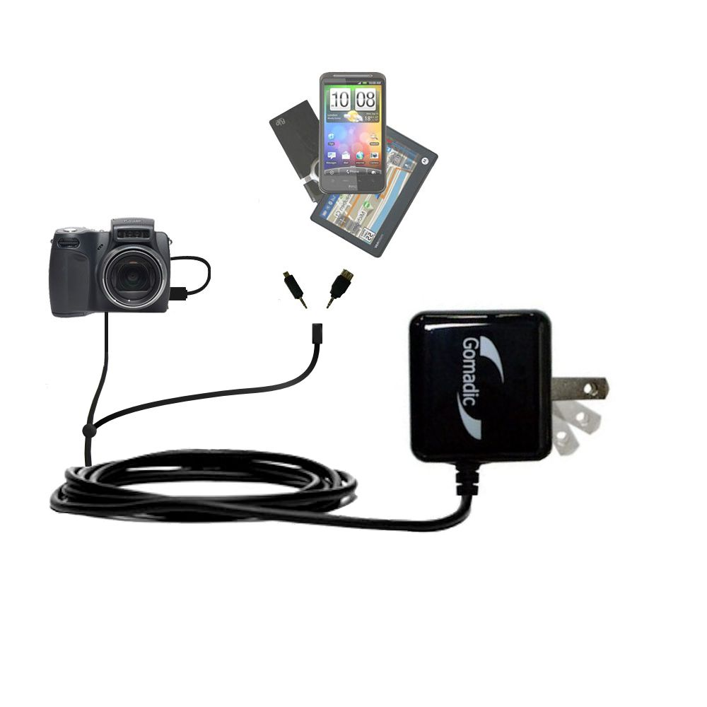 Double Wall Home Charger with tips including compatible with the Kodak DX6490
