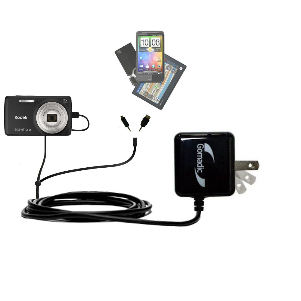 Double Wall Home Charger with tips including compatible with the Kodak EasyShare M552