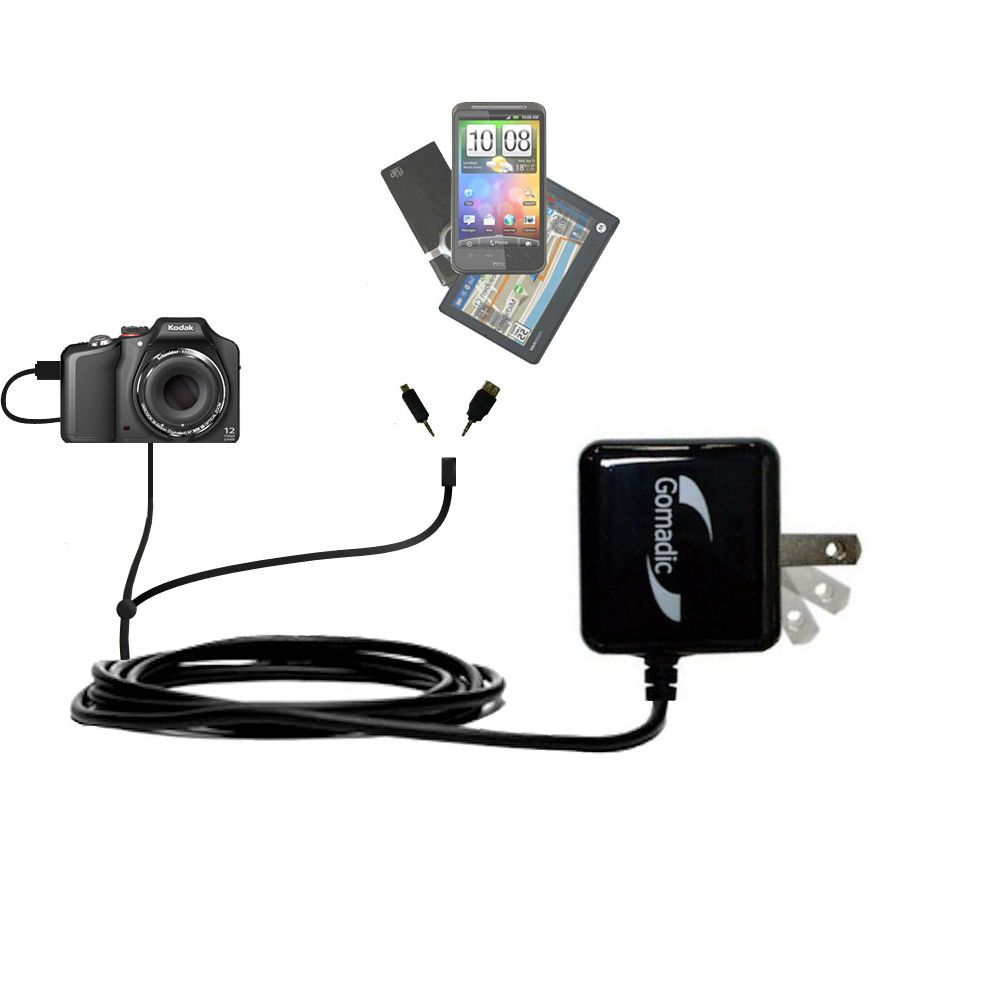Double Wall Home Charger with tips including compatible with the Kodak EasyShare Max