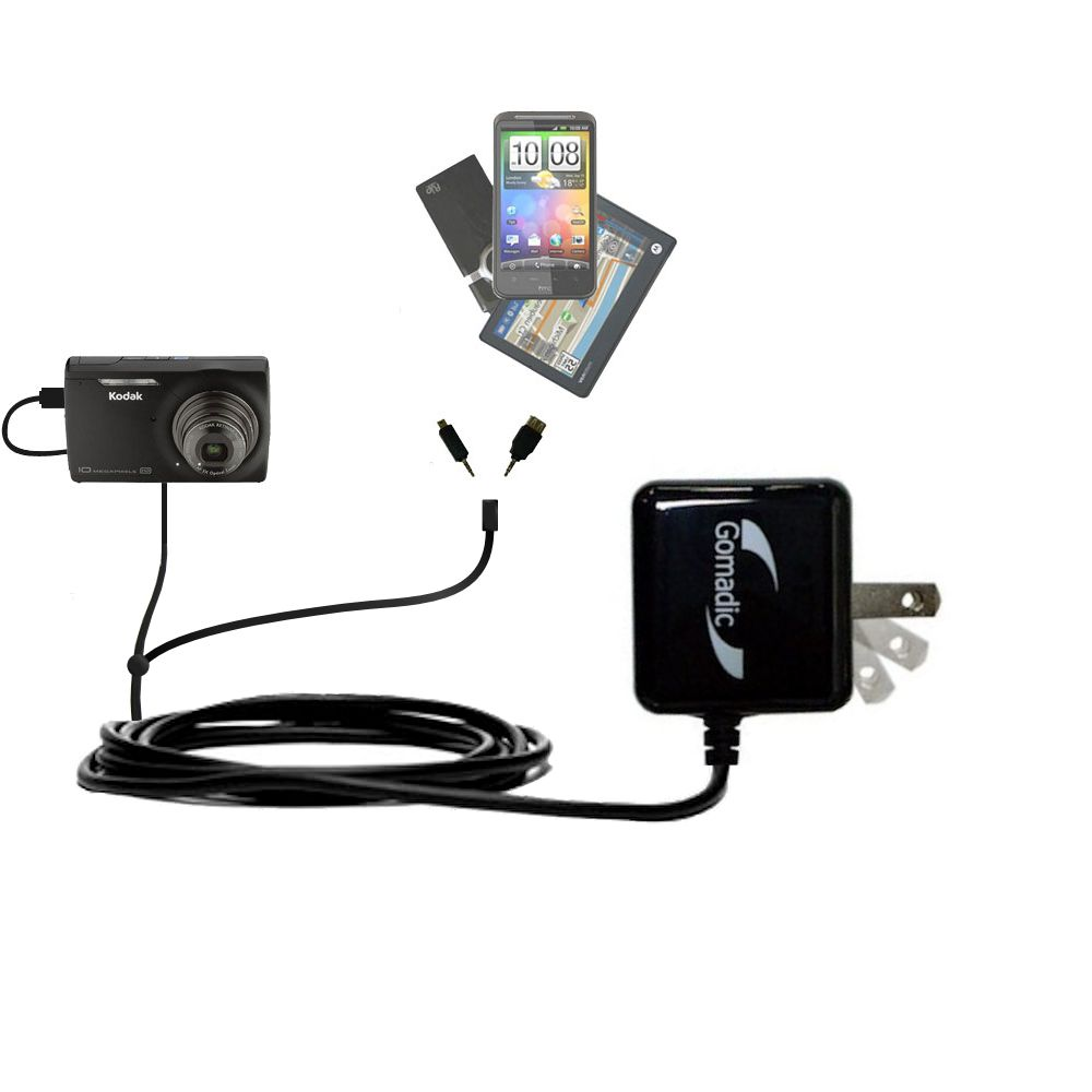 Double Wall Home Charger with tips including compatible with the Kodak M1093 IS