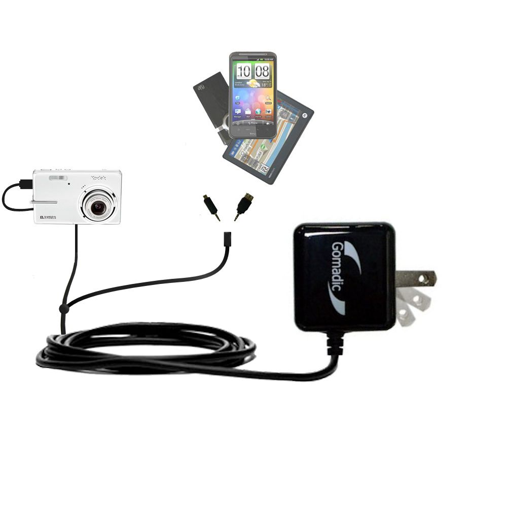 Double Wall Home Charger with tips including compatible with the Kodak M893 IS