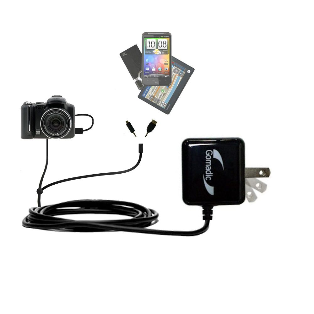 Double Wall Home Charger with tips including compatible with the Kodak P712