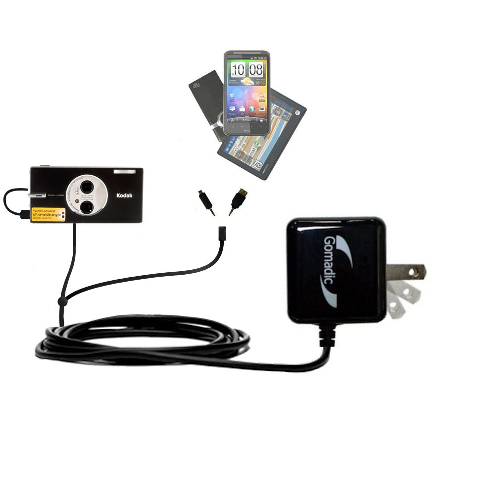 Double Wall Home Charger with tips including compatible with the Kodak V570
