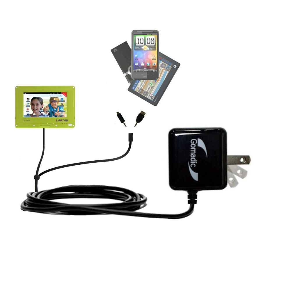 Double Wall Home Charger with tips including compatible with the Lexibook Laptab MFC140EN