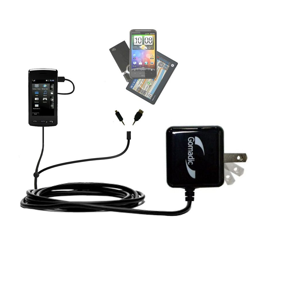 Double Wall Home Charger with tips including compatible with the LG  KB770