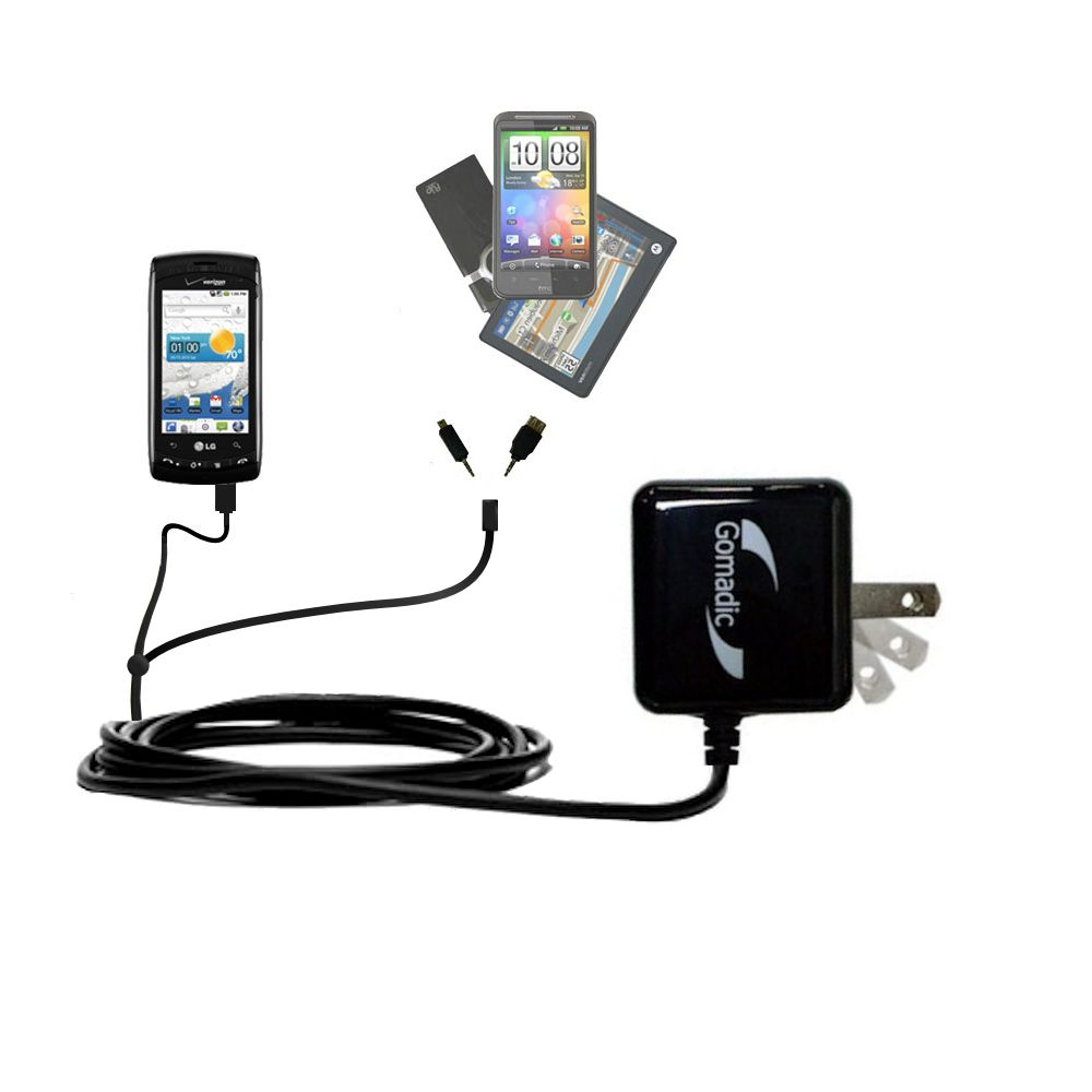 Double Wall Home Charger with tips including compatible with the LG Ally