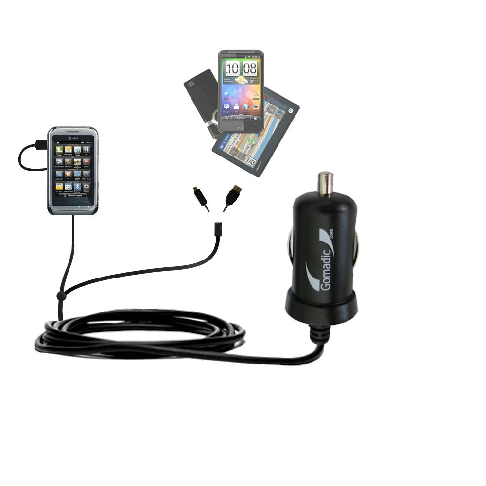 mini Double Car Charger with tips including compatible with the LG Arena