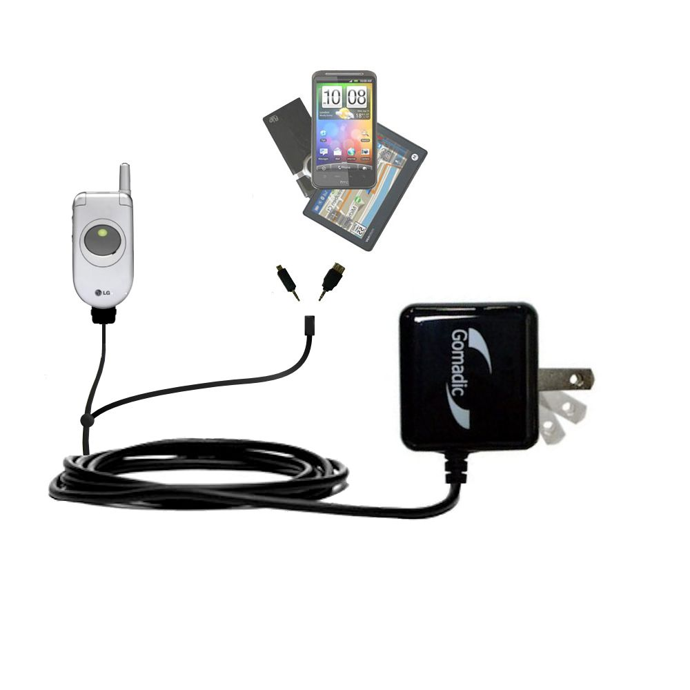 Double Wall Home Charger with tips including compatible with the LG C1300