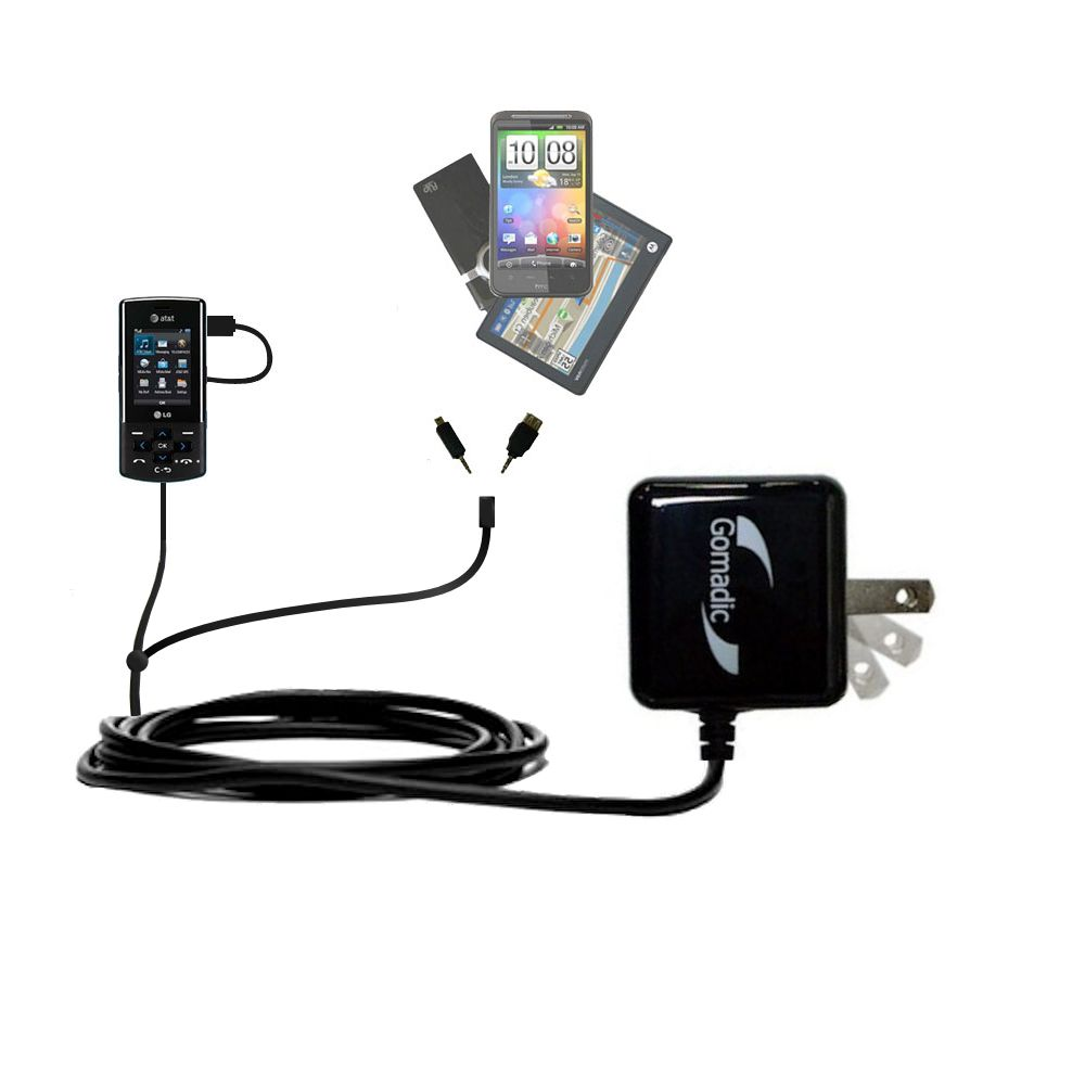 Double Wall Home Charger with tips including compatible with the LG CF360