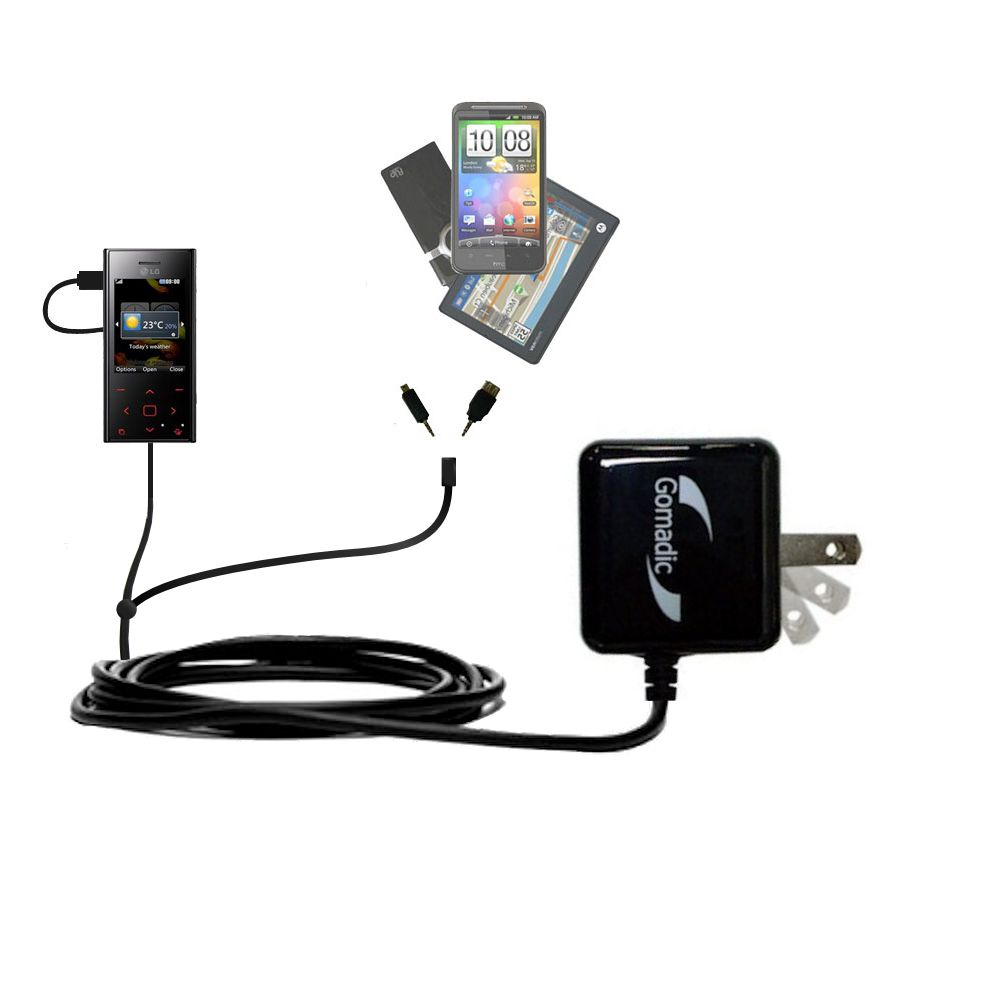 Double Wall Home Charger with tips including compatible with the LG Chocolate BL42