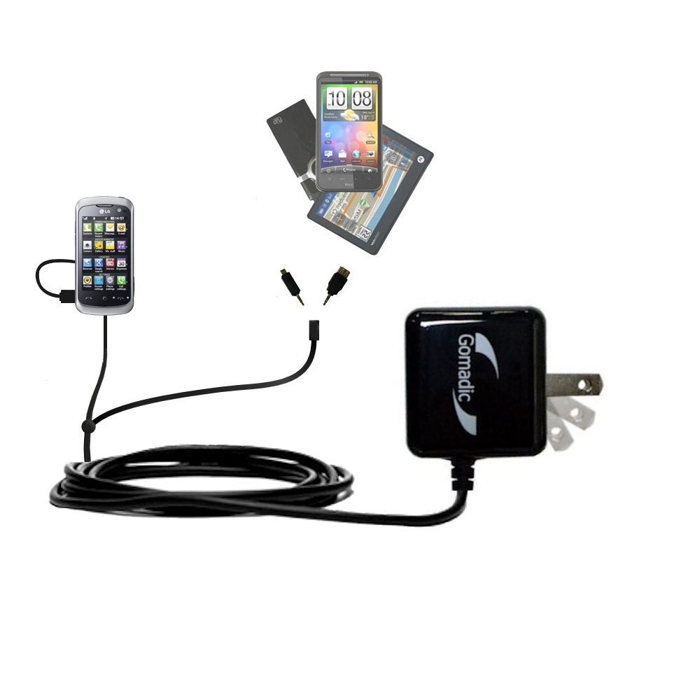 Double Wall Home Charger with tips including compatible with the LG Cookie Live