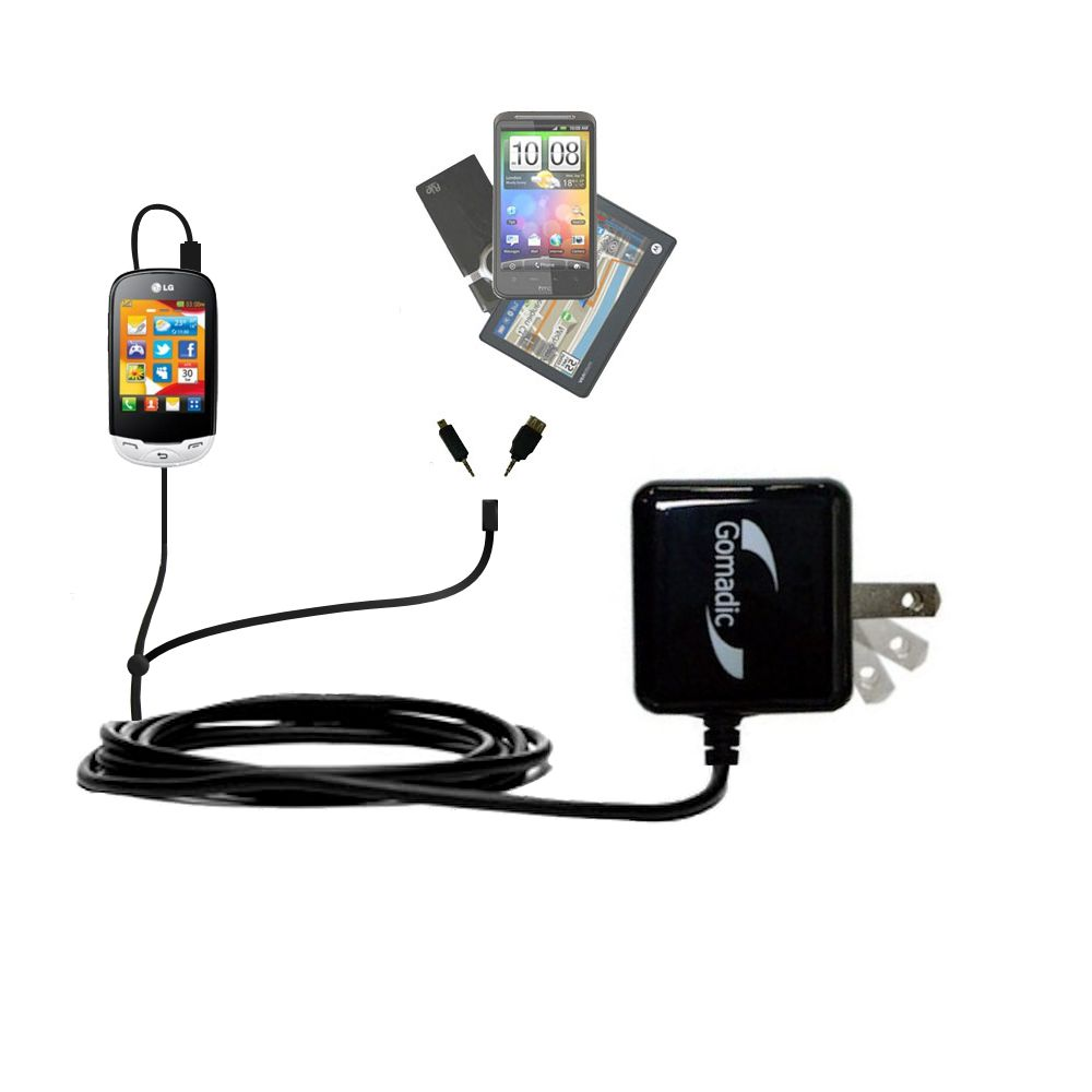 Double Wall Home Charger with tips including compatible with the LG EGO Wi-Fi