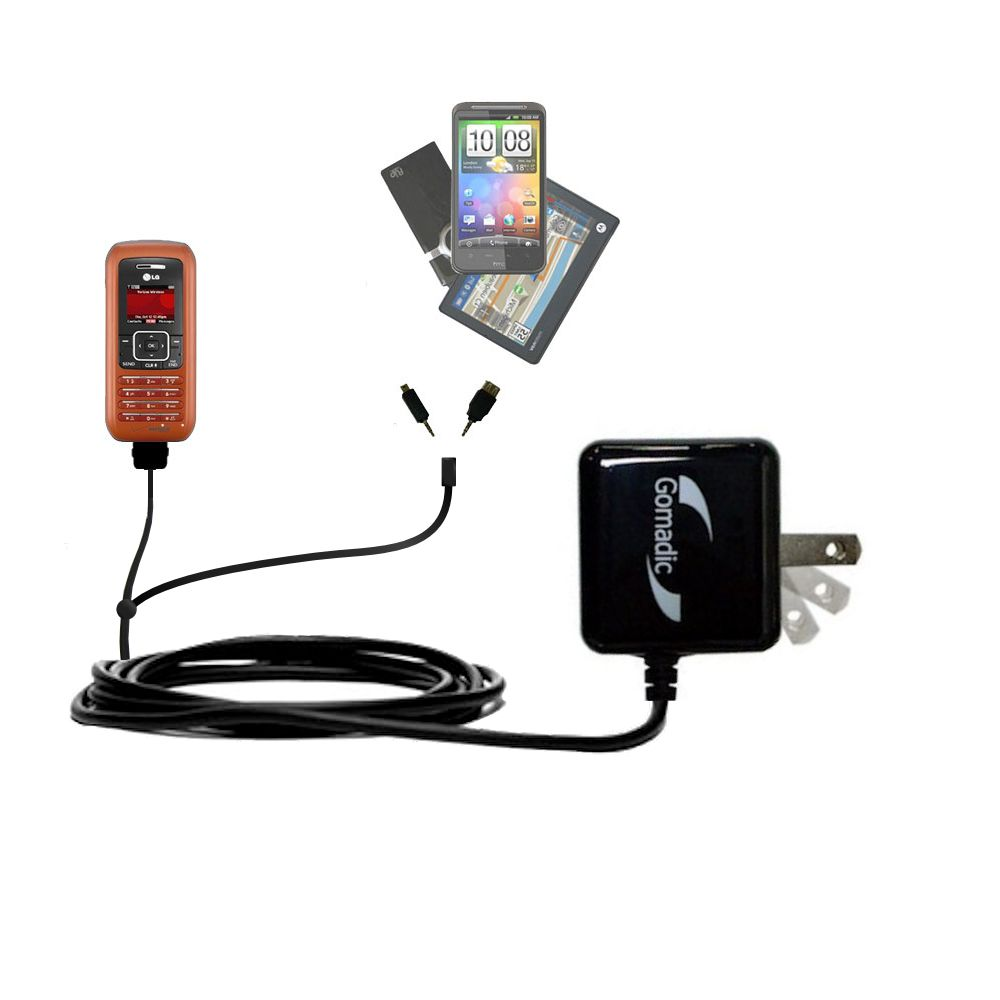 Double Wall Home Charger with tips including compatible with the LG EnV
