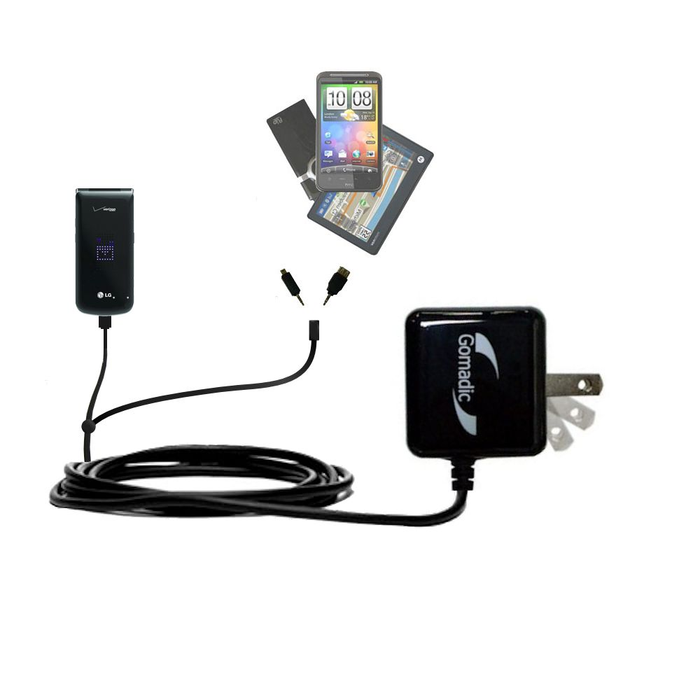 Double Wall Home Charger with tips including compatible with the LG Exalt VN360
