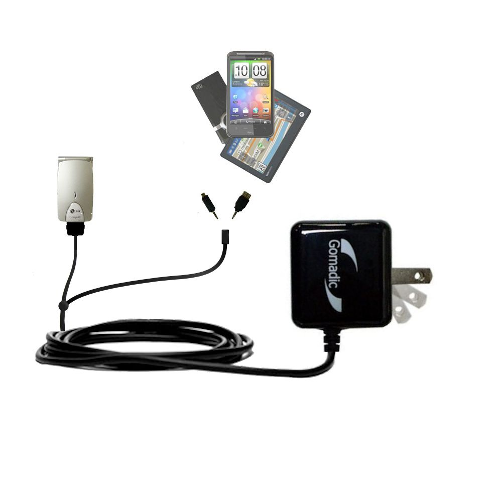 Double Wall Home Charger with tips including compatible with the LG G4010