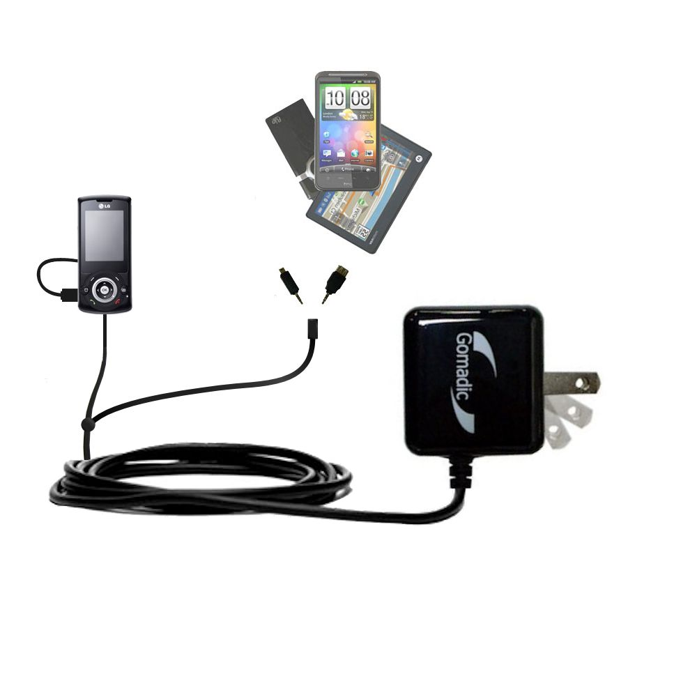 Double Wall Home Charger with tips including compatible with the LG GB130
