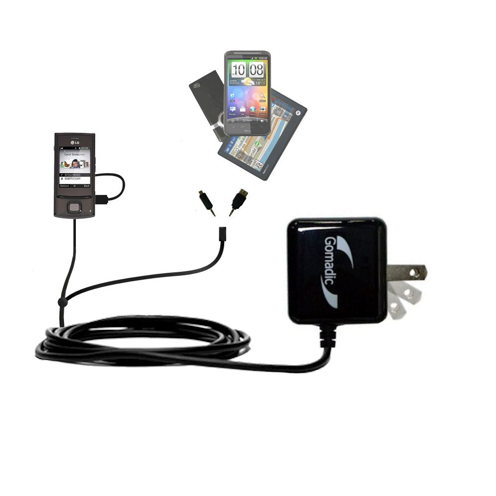 Double Wall Home Charger with tips including compatible with the LG GD550