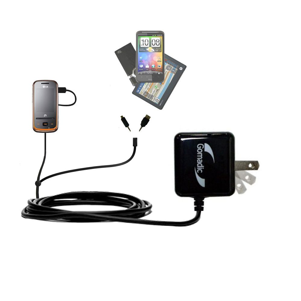 Double Wall Home Charger with tips including compatible with the LG GM310