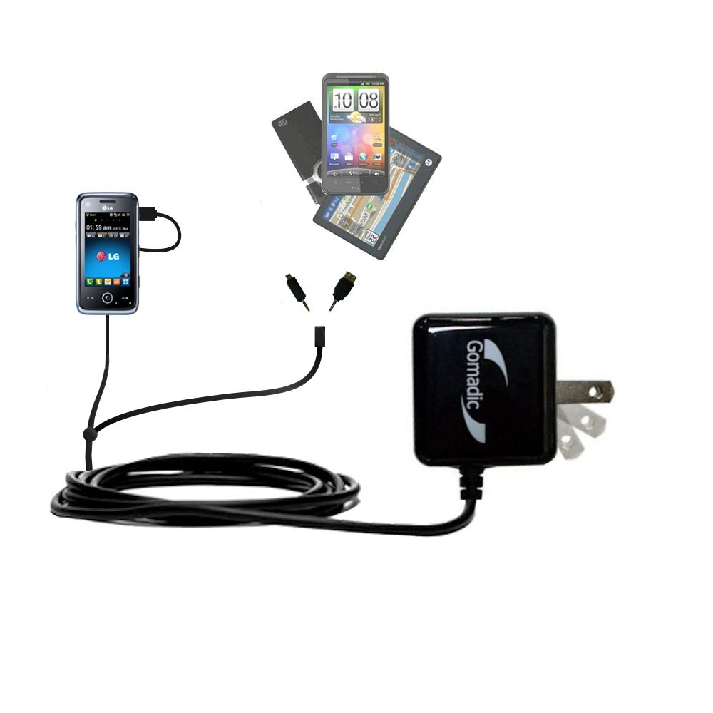 Double Wall Home Charger with tips including compatible with the LG GM730
