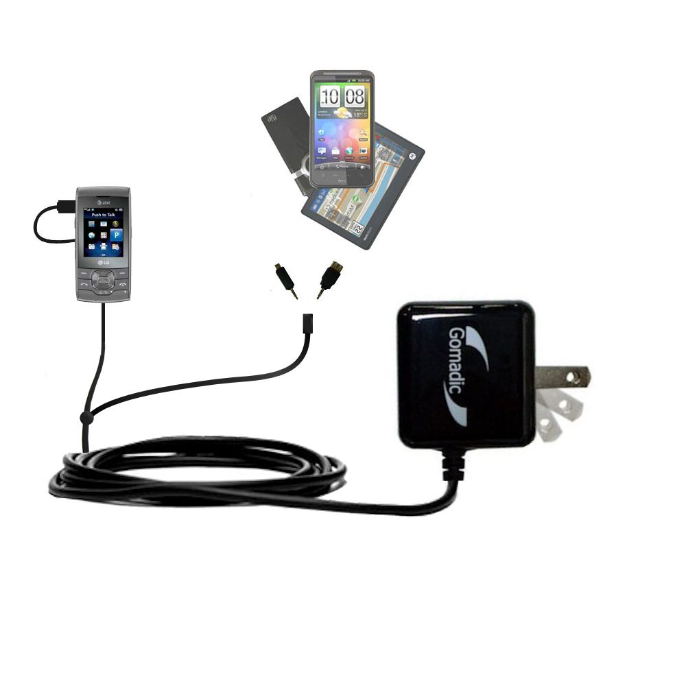 Double Wall Home Charger with tips including compatible with the LG GU292