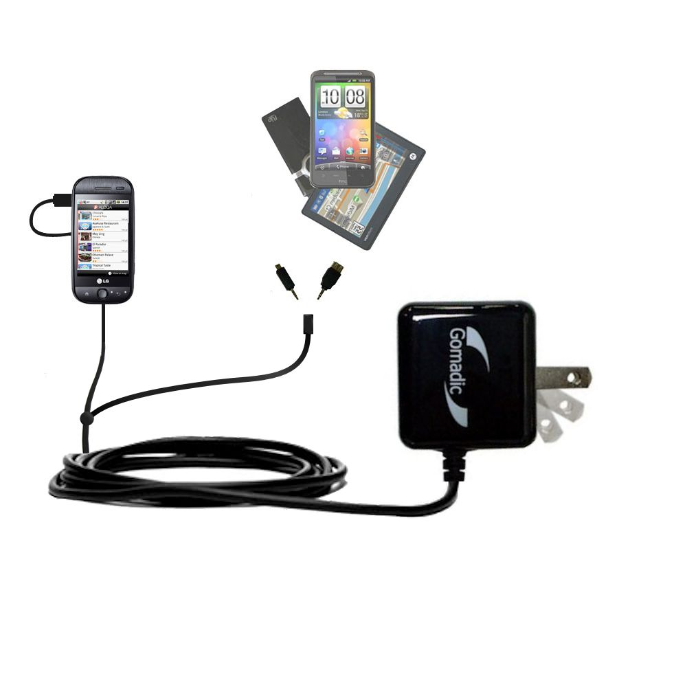 Double Wall Home Charger with tips including compatible with the LG GW620