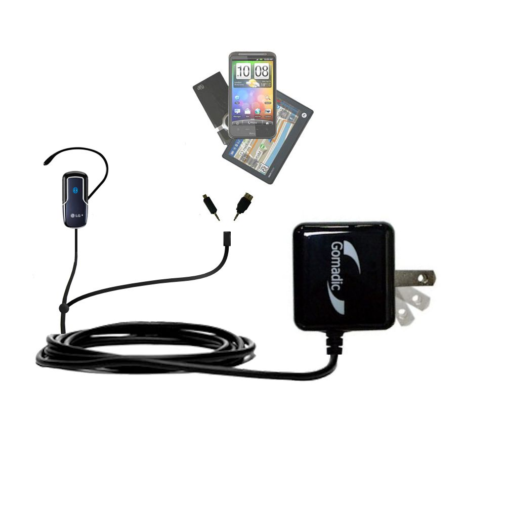 Double Wall Home Charger with tips including compatible with the LG HBM-770