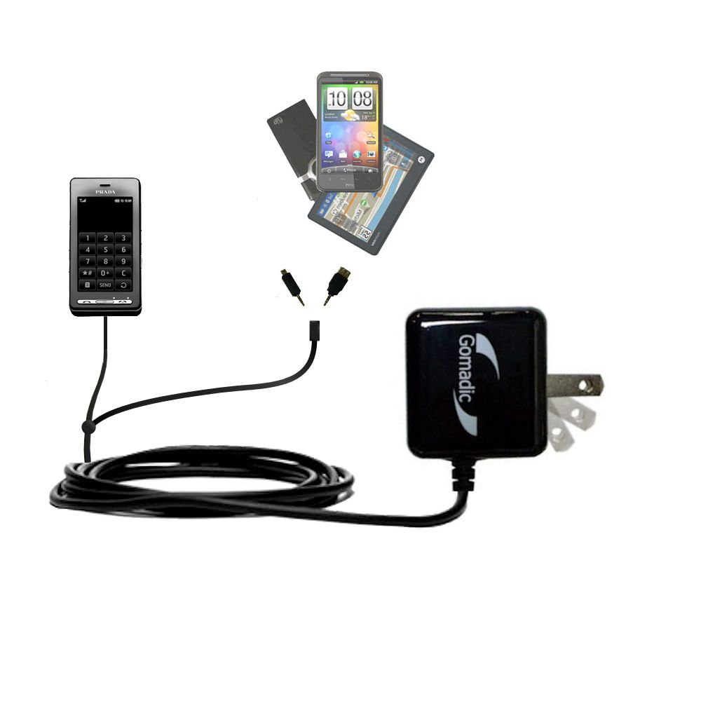 Double Wall Home Charger with tips including compatible with the LG KE850 Prada