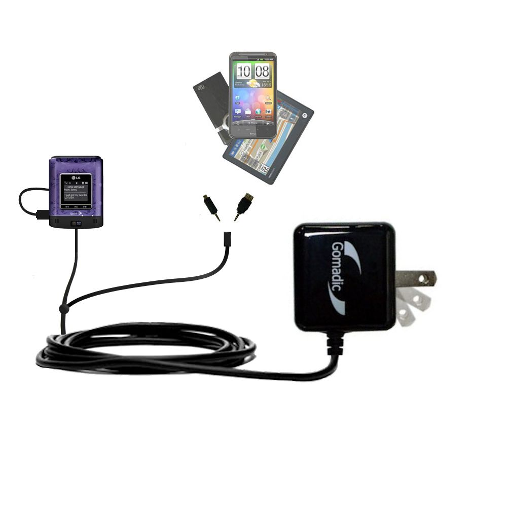 Double Wall Home Charger with tips including compatible with the LG Lotus