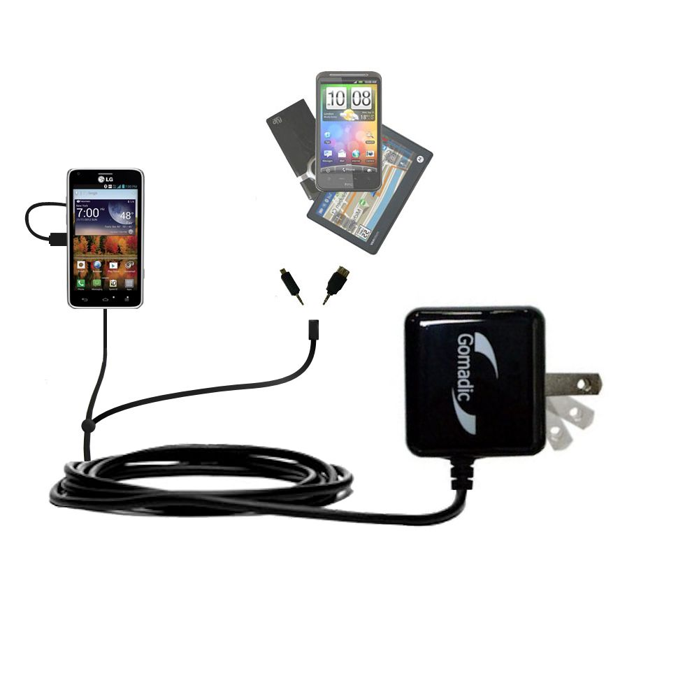 Double Wall Home Charger with tips including compatible with the LG Mach