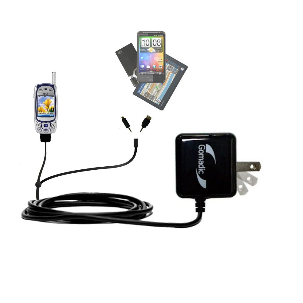 Double Wall Home Charger with tips including compatible with the LG MM-535