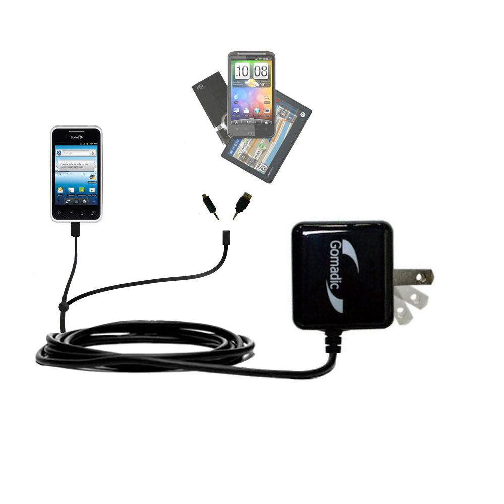 Double Wall Home Charger with tips including compatible with the LG Optimus Elite