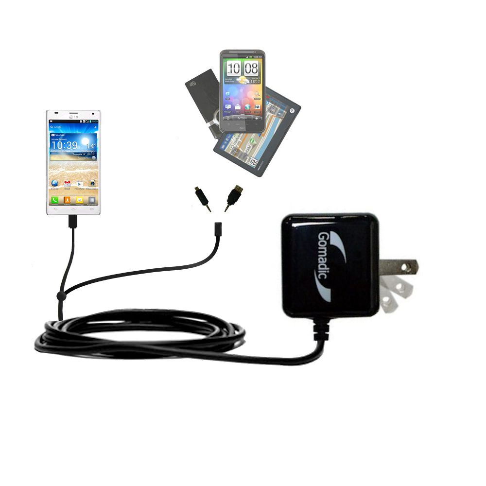 Double Wall Home Charger with tips including compatible with the LG P880